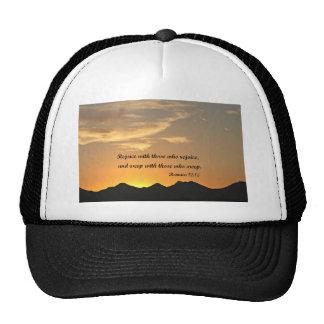 Romans 12:15 trucker hat