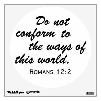 Romans 12:2 circular wall sticker