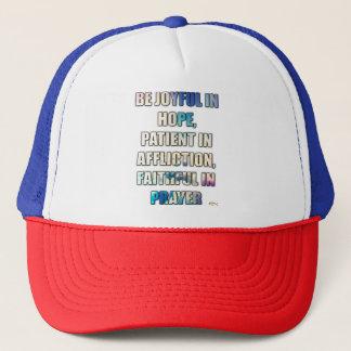 Romans 12 trucker hat