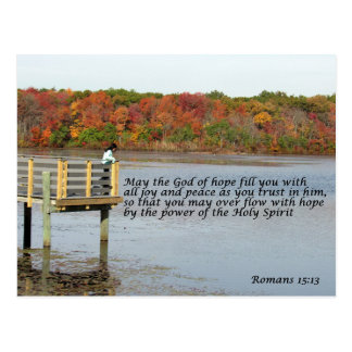 Romans 15:13 Bible Quote Postcard