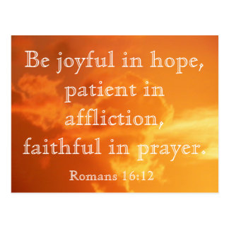 Romans 16:12 - postcard