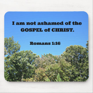 Romans 1:16 For I am not ashamed of... Mouse Pad