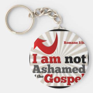 Romans 1:16 keychain