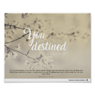 Romans 5:17 - You are destined to reign in life Poster