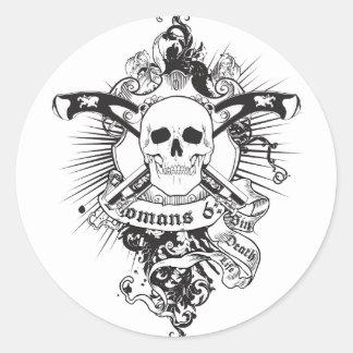 Romans 6:23 01 round sticker