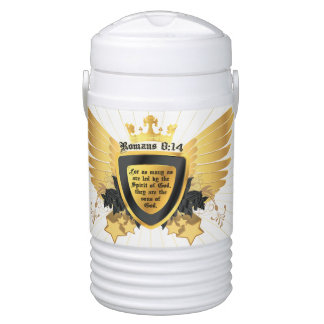Romans 8:14 Sons of God Christian Men's Bible Drinks Cooler