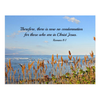 Romans 8:1 Therefore, there is now no condemnation Postcard
