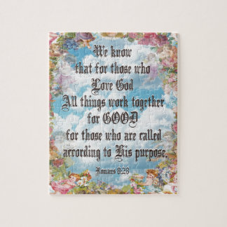 Romans 8:28 - All things good... Jigsaw Puzzle