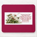 Romans 8:28 Bee Motif Mouse Pad