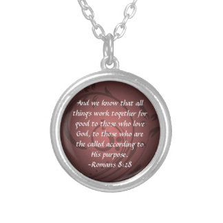 Romans 8:28 Christian Bible Verse Pendant