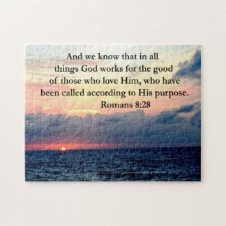 ROMANS 8:28 FAITH JIGSAW PUZZLE