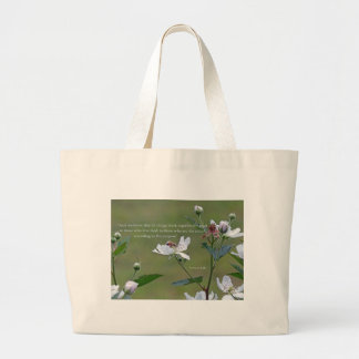 Romans 8:28 large tote bag