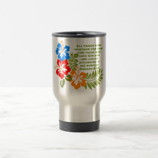 Romans 8:28 Stainless Steel 15 oz Travel Mug