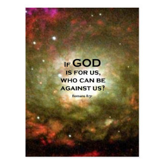 Romans 8:31 postcard