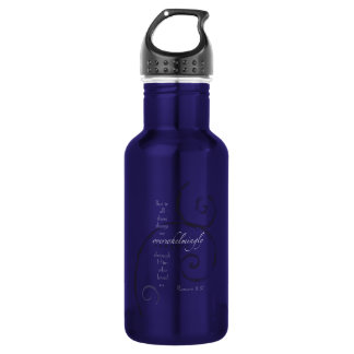 Romans 8:37 - Choose your own color! Customizable 532 Ml Water Bottle