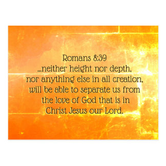 Romans 8:39 The love of God in Christ Jesus, Bible Postcard