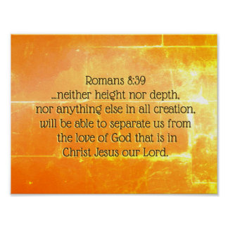 Romans 8:39 The love of God in Christ Jesus, Bible Poster