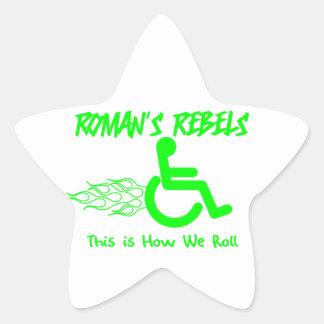 Roman's Rebels Star Sticker