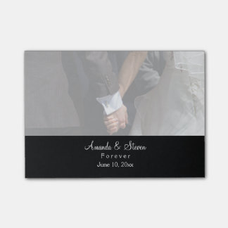 Romantic and Elegant Wedding Couple Holding Hands Post-it Notes