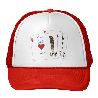 """Romantic and fun """"ace of hearts"""" trucker hat"""