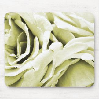 Romantic antique white velvet roses floral photo mouse pad
