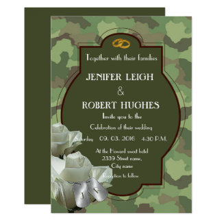Romantic Army Wedding Card
