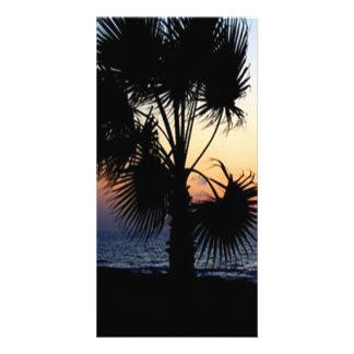 Romantic beach scene photo card