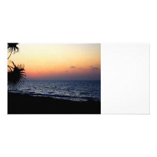 Romantic beach scene. photo cards