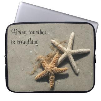 Romantic Beach Theme Laptop Sleeve