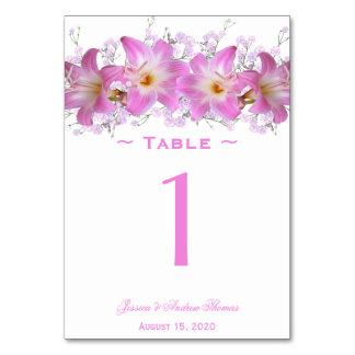 Romantic Belladonna Lilies Wedding Card