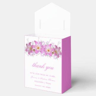 Romantic Belladonna Lilies Wedding Favor Box