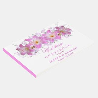 Romantic Belladonna Lilies Wedding Guest Book