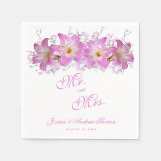 Romantic Belladonna Lilies Wedding Napkin