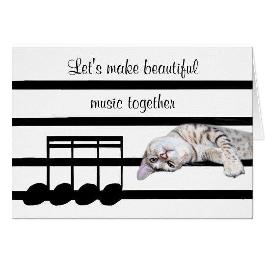 Romantic Bengal cat Card