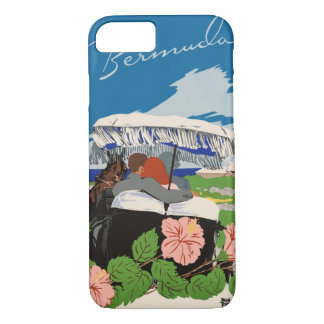 Romantic Bermuda retro vintage travel ad iPhone 8/7 Case