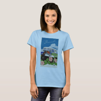 Romantic Bermuda retro vintage travel ad T-Shirt
