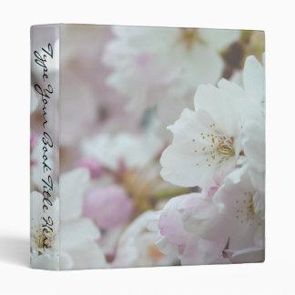 Romantic Binder White Blossoms Book Binder Wedding