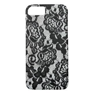 Romantic Black Lace Pattern. iPhone 8/7 Case