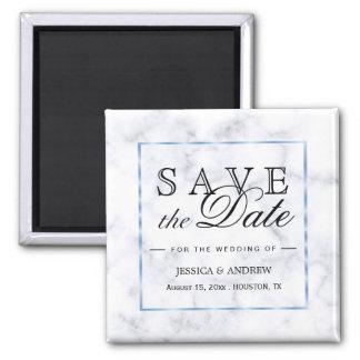 Romantic Blue Marble Wedding Magnet