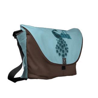 Romantic Blue Peacock Courier Bag