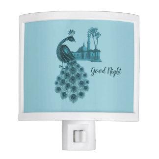 Romantic Blue Peacock Night Lights