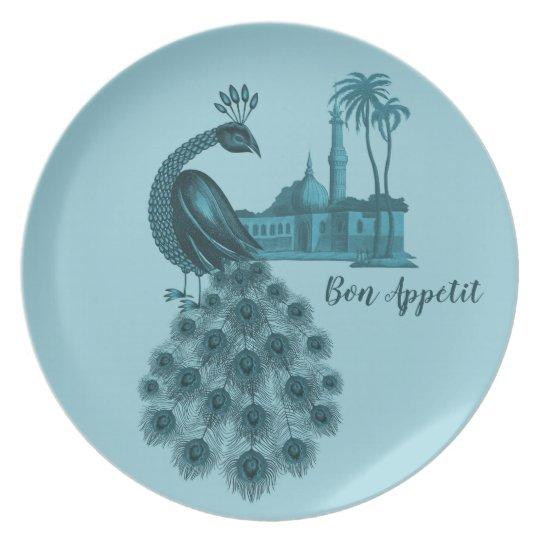 Romantic Blue Peacock Plate