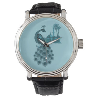 Romantic Blue Peacock Watch