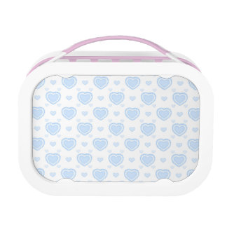 Romantic Blue & White Hearts Lunch Box