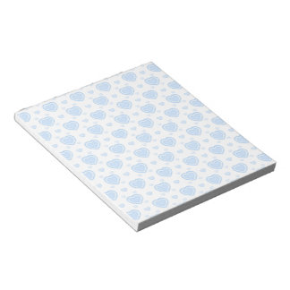 Romantic Blue & White Hearts Notepad