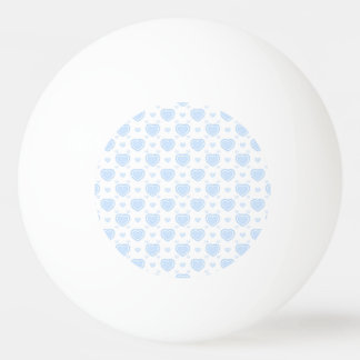 Romantic Blue & White Hearts Ping Pong Ball
