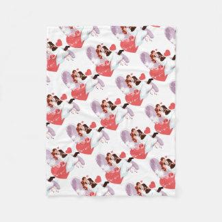 Romantic Bride and Groom in Love Fleece Blanket