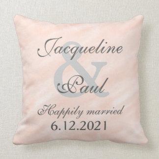 Romantic Bride Groom Blush Reversible Pillow