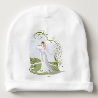 Romantic Bride in the Nature Baby Beanie