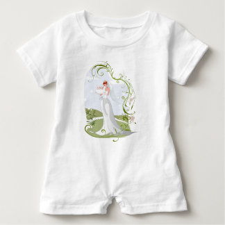 Romantic Bride in the Nature Baby Romper
